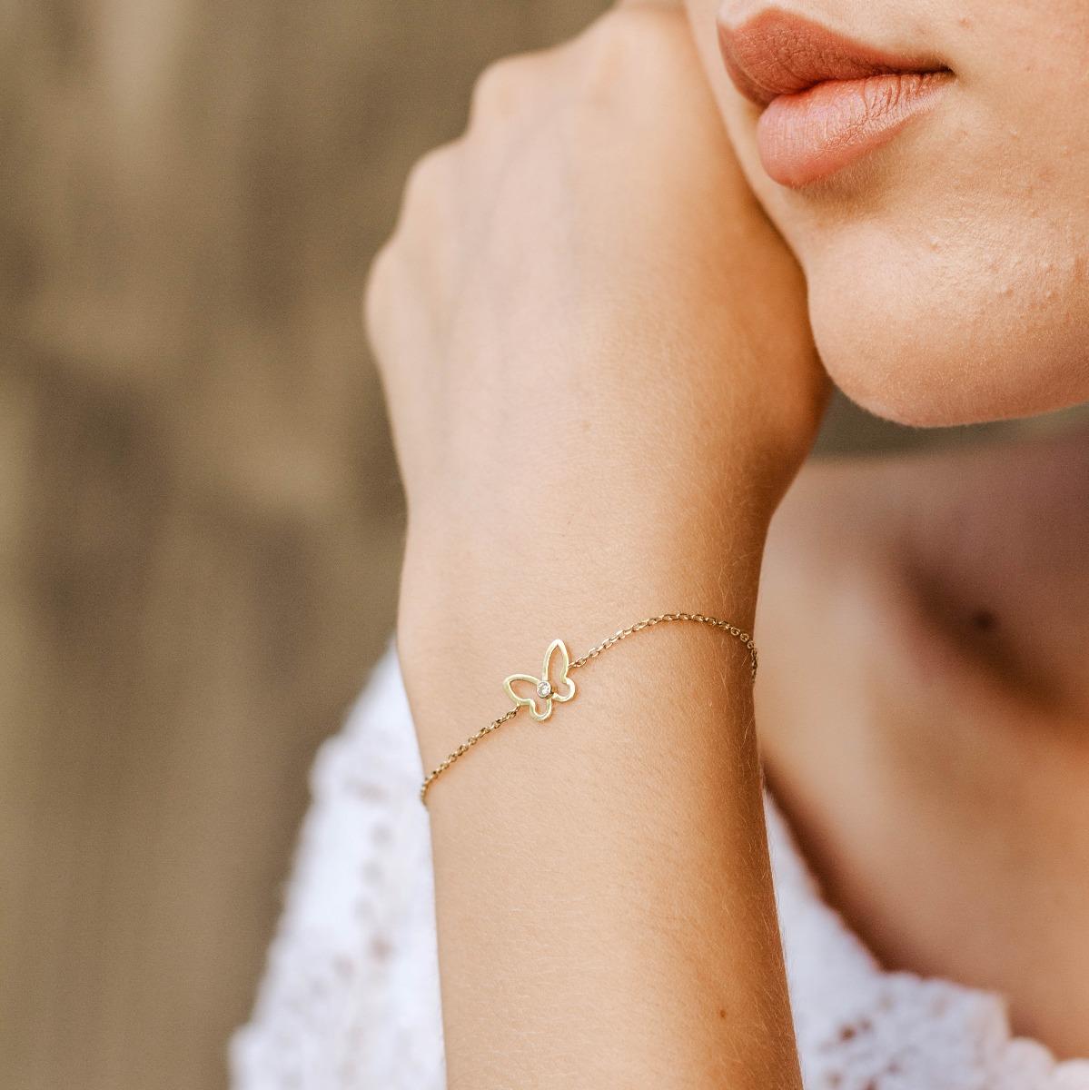 Butterfly Bracelet 14K