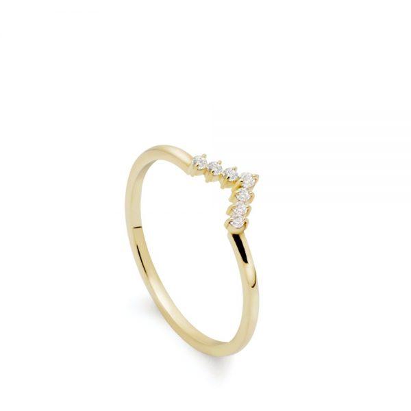 Δαχτυλίδι Λευκά Διαμάντια V