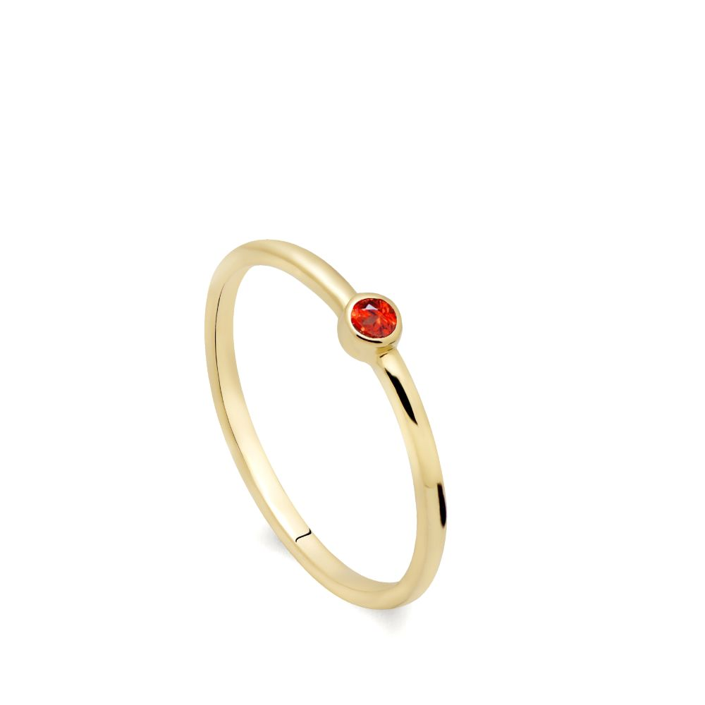 Δαχτυλίδι Πορτοκαλί Ζαφείρι