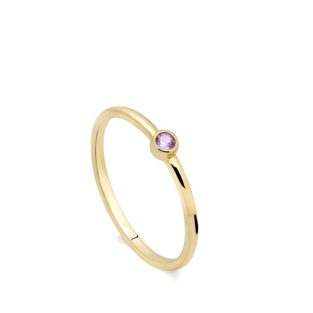 Δαχτυλίδι Ροζ Ζαφείρι