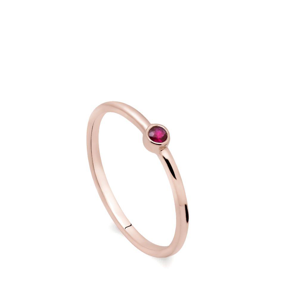Δαχτυλίδι Ρουμπίνι Ροζ Χρυσό