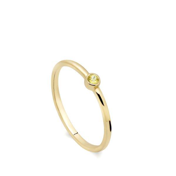 Δαχτυλίδι Κίτρινο Ζαφείρι