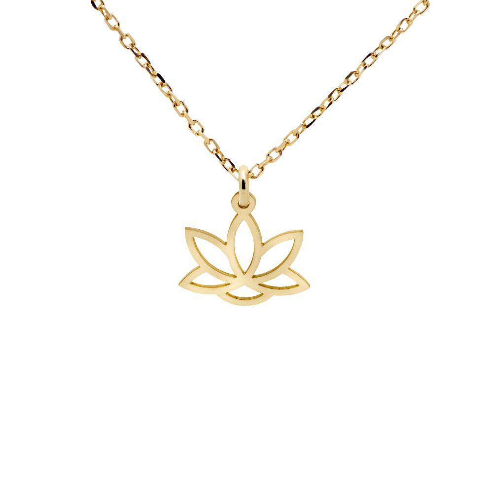 Lotus Necklace 14K Gold
