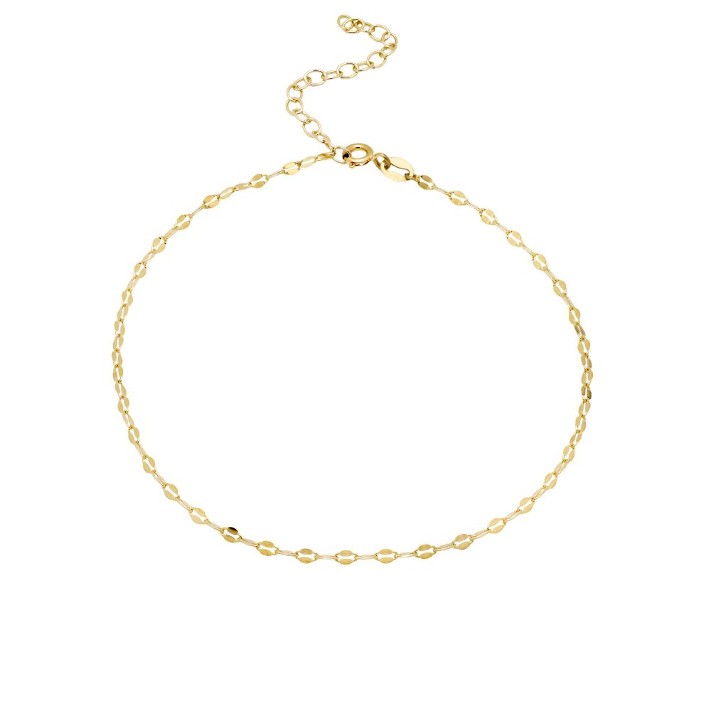 Delicate Chain Anklet Gold