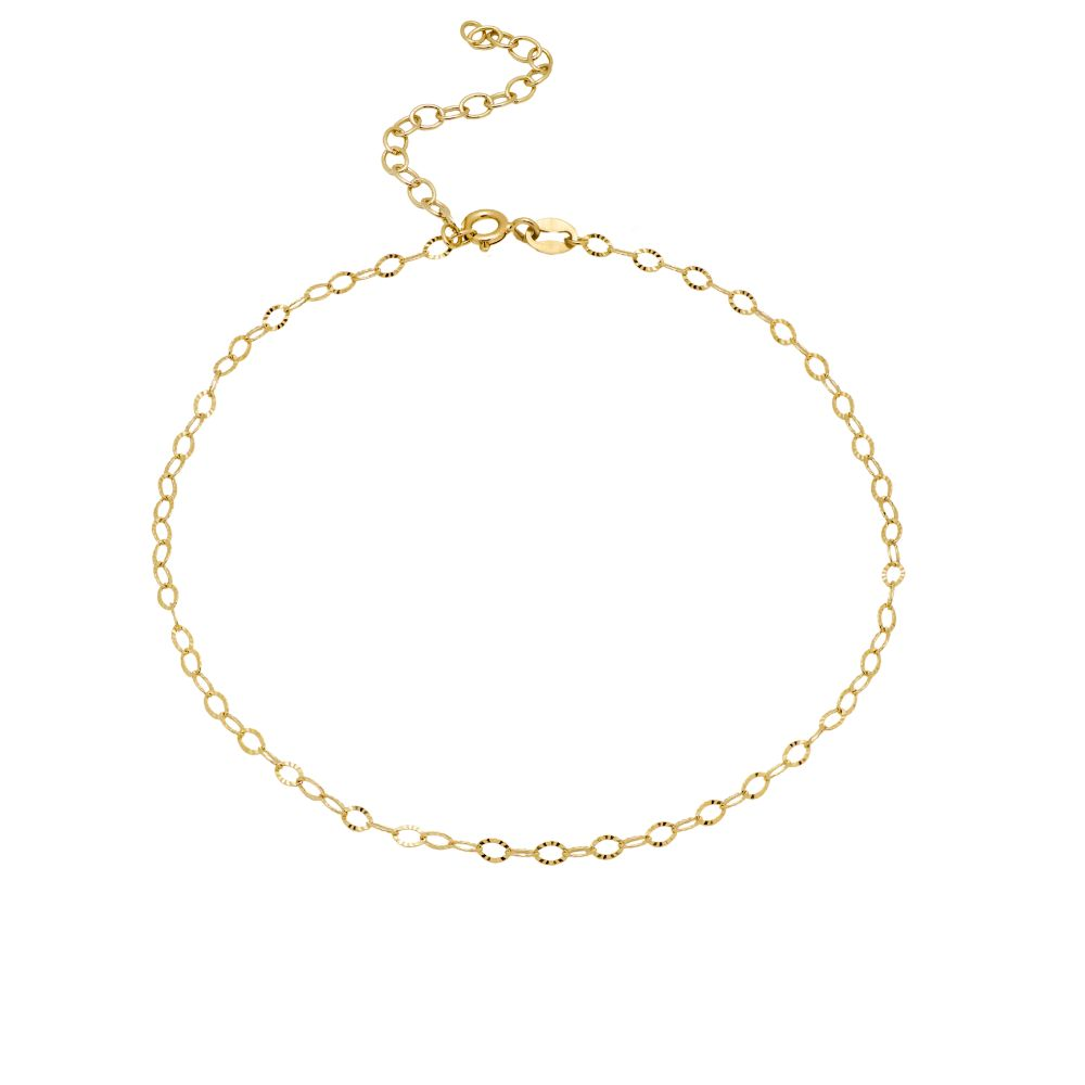 Chain Ankle Bracelet Sterling Silver