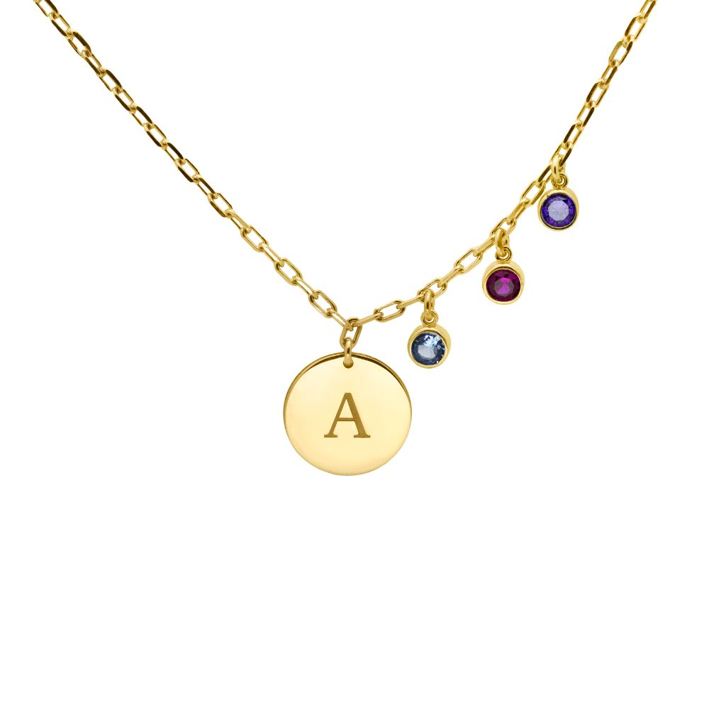 Letter Birthstone Necklace
