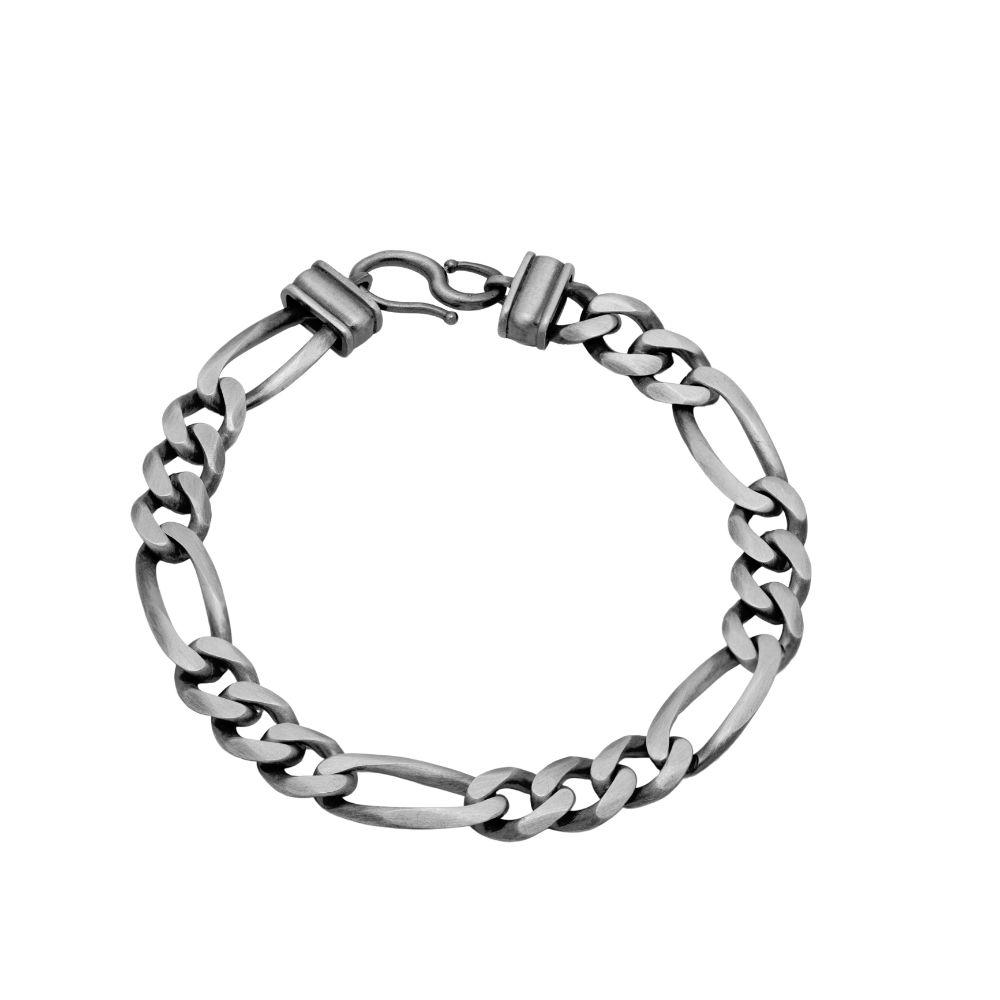 Men Chain Bracelet Oxidized Silver
