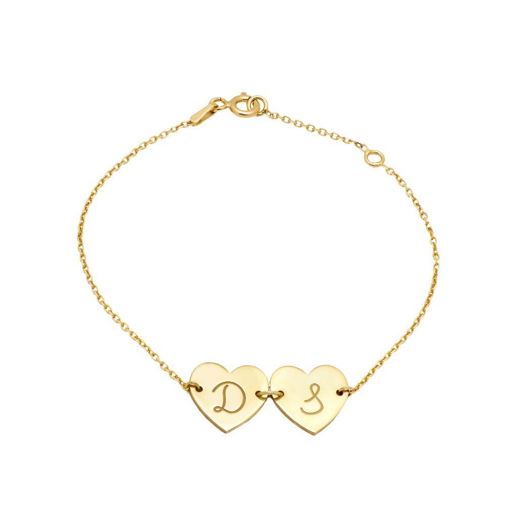 Custom Heart Charm Bracelet