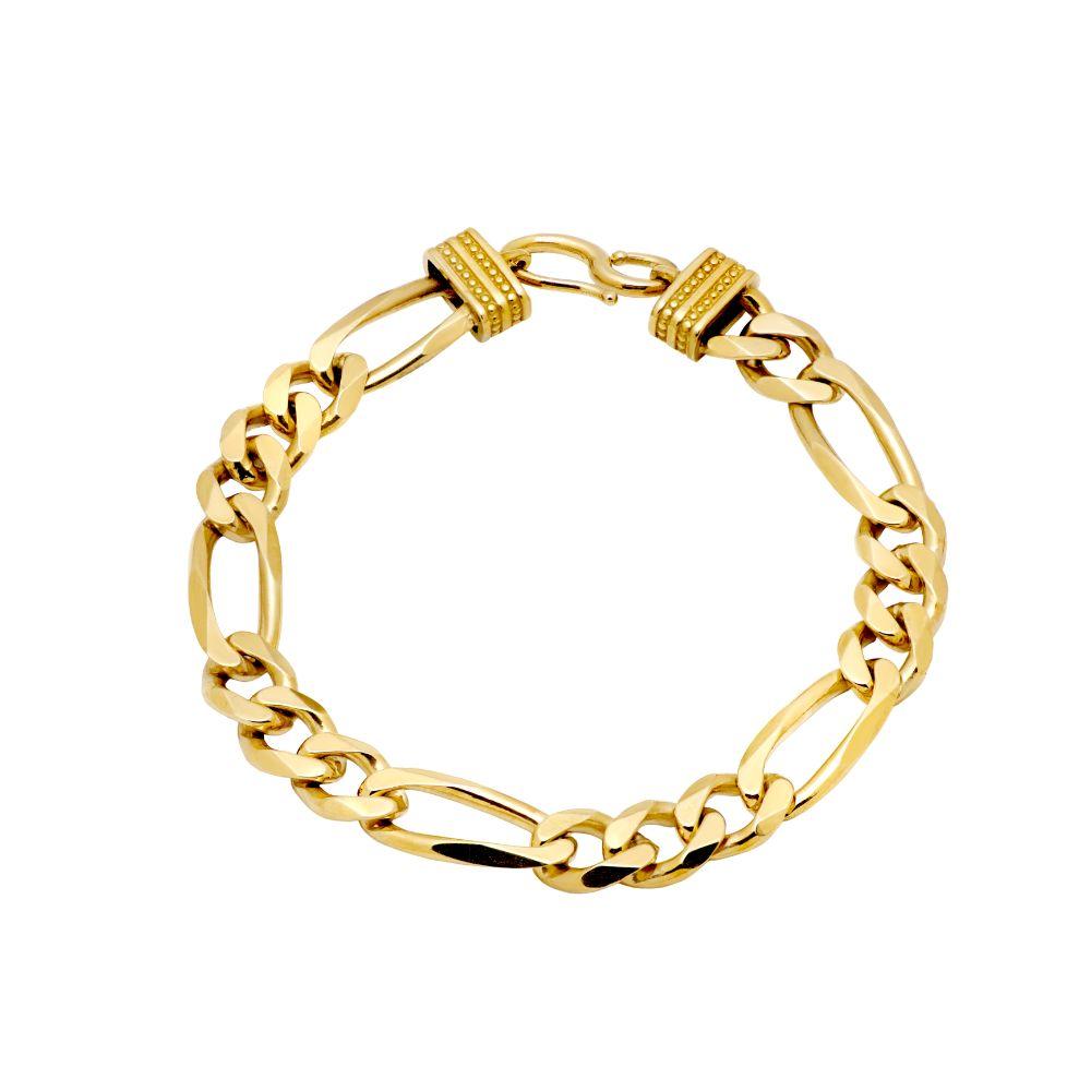 Figaro Chain Bracelet Gold
