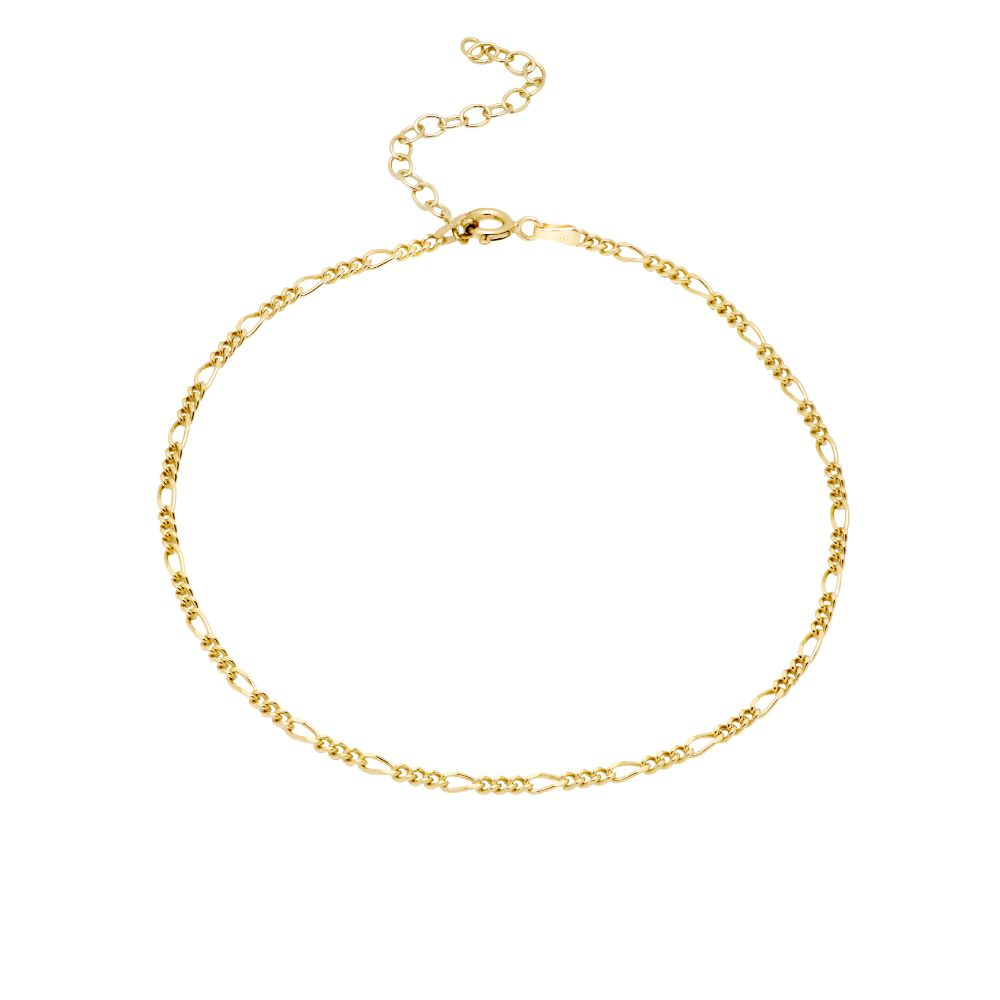 Figaro Chain Anklet Gold Plated