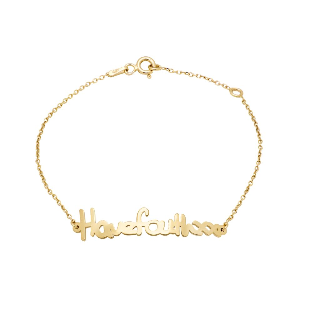 Actual Handwriting Bracelet Gold Plated