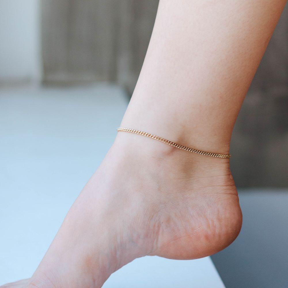 Αλυσίδα για το Πόδι Επιχρυσωμένο Ασήμι