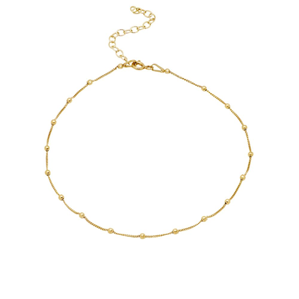 Ball Chain Anklet Gold Plated