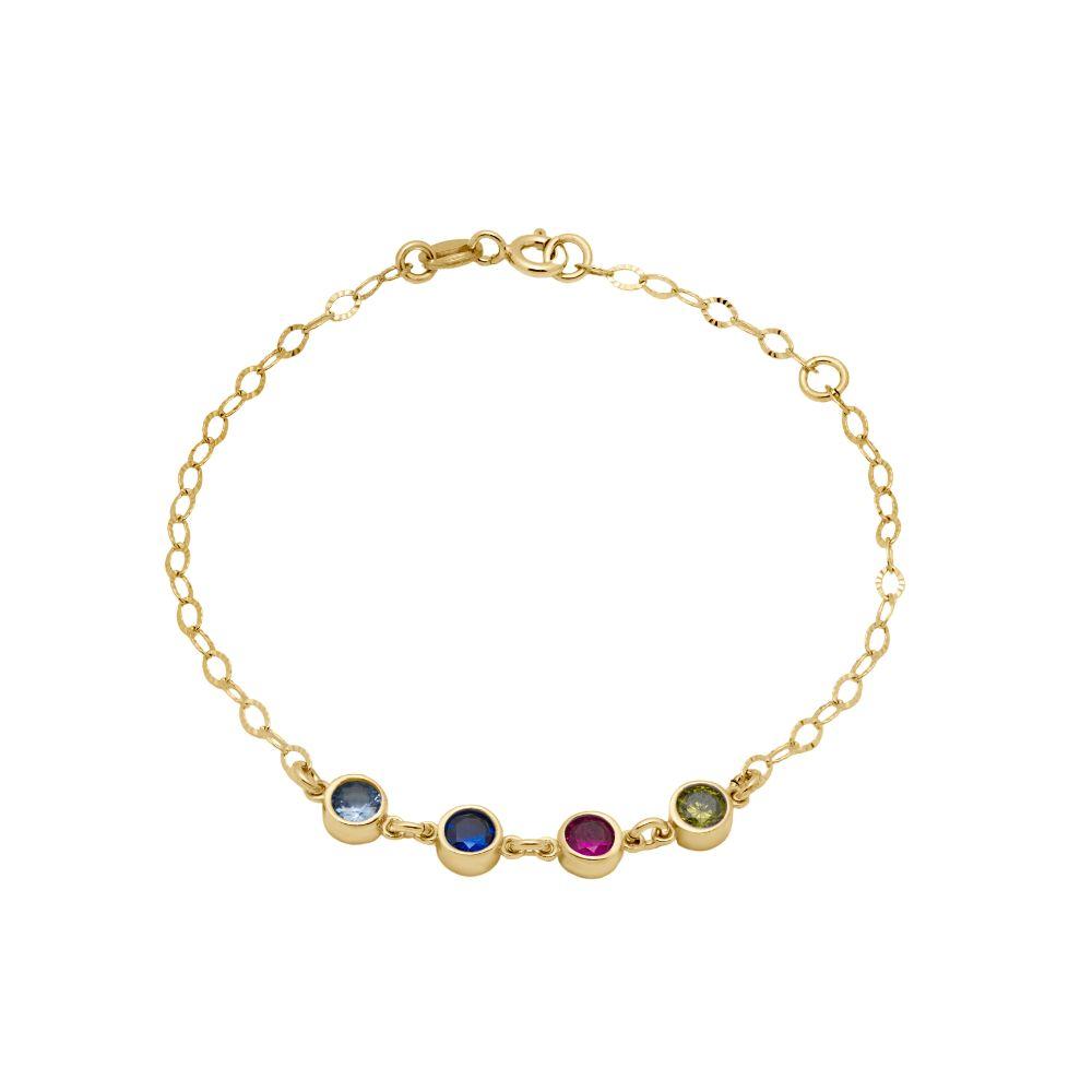 Family Birthstone Bracelet Gold Plated