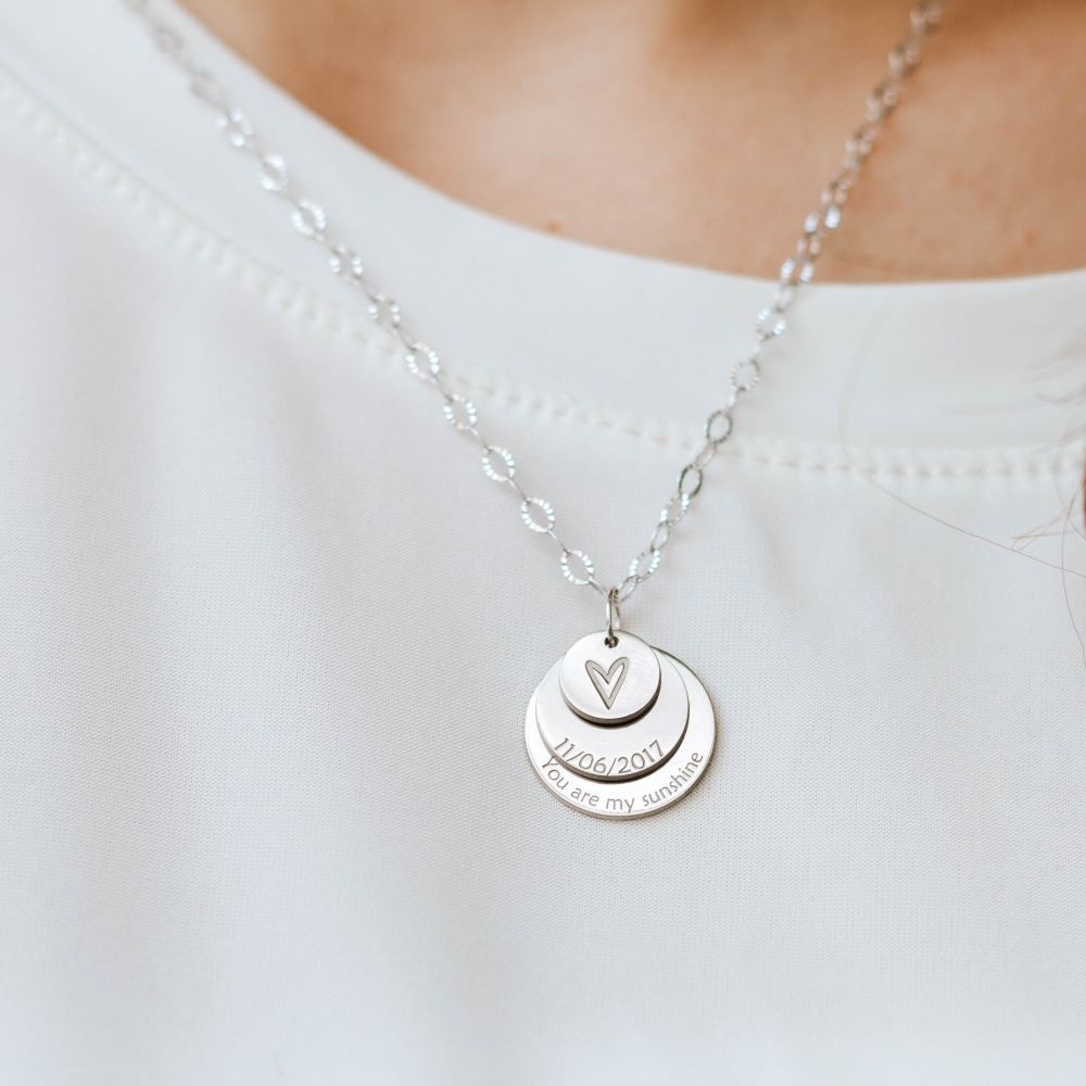 3 Disc Layered Necklace