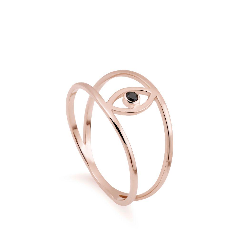 Δαχτυλίδι Μάτι Ροζ Χρυσό