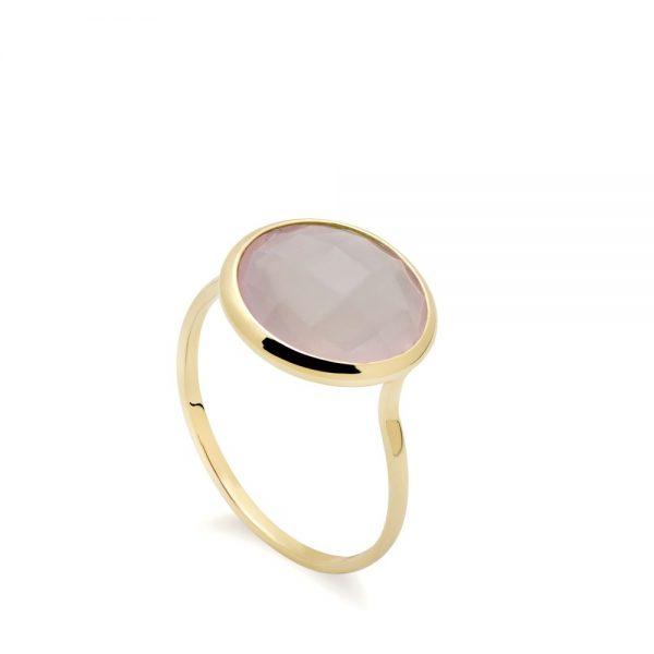 Δαχτυλίδι με Ημιπολύτιμες Πέτρες 12mm
