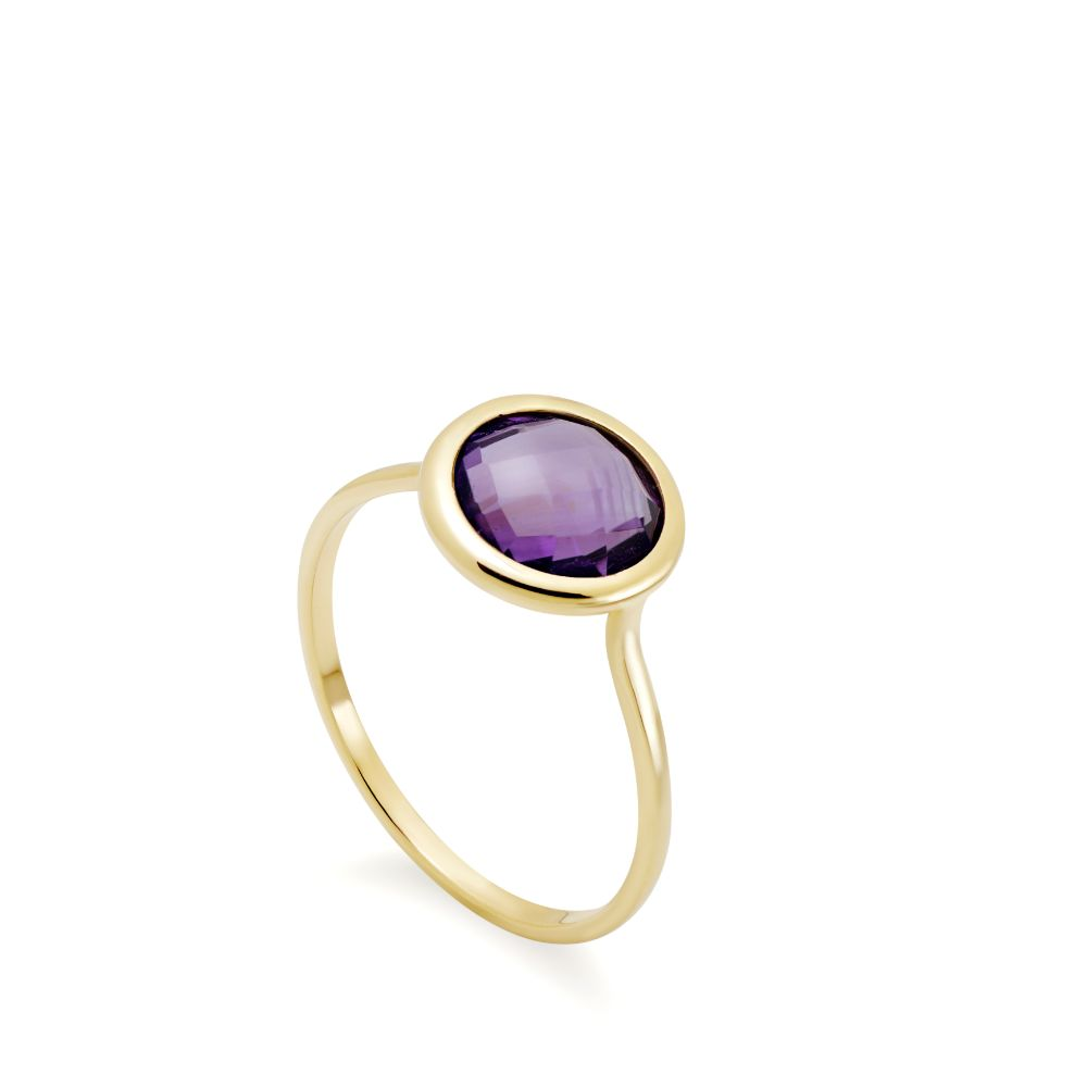 Δαχτυλίδι με Ημιπολύτιμες Πέτρες 8mm