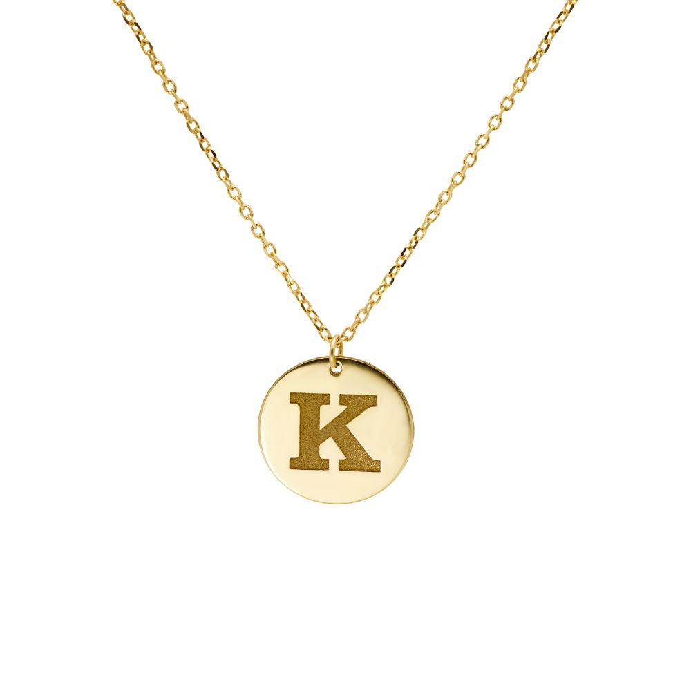 Κολιέ 14K Χρυσό με Αρχικό Γράμμα
