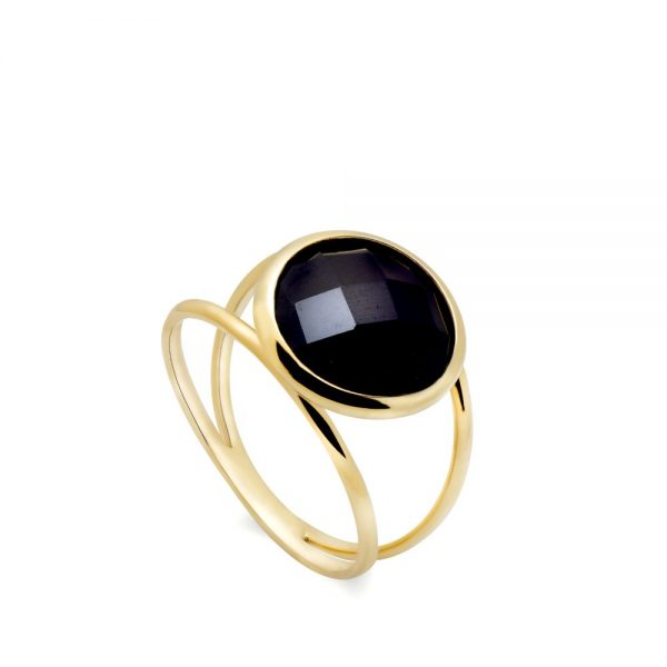 Δαχτυλίδι Διπλό με Ημιπολύτιμες Πέτρες 10mm-0