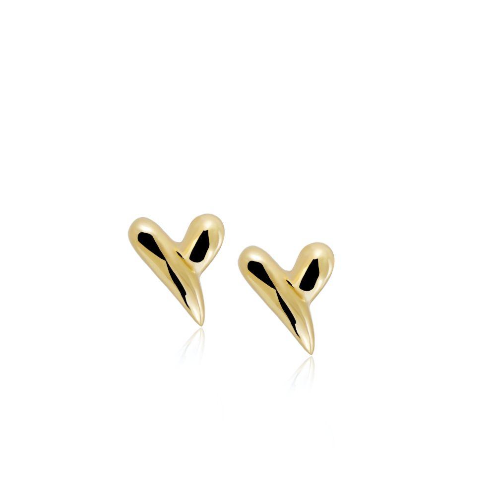 Μικρά Σκουλαρίκια Καρδιές Χρυσά
