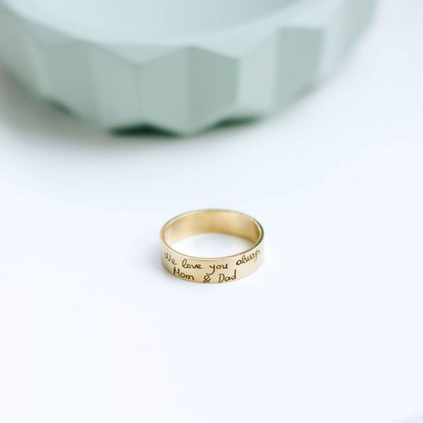 Δαχτυλίδι με Πραγματική Γραφή - Δώρο για μαμά