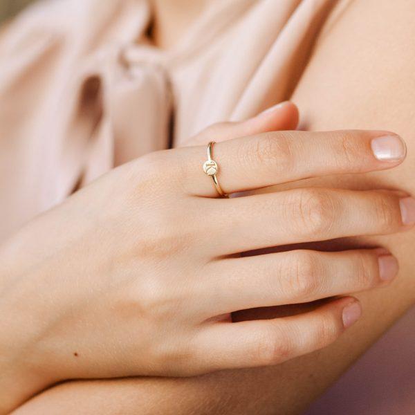 Δαχτυλίδι με Γράμμα Χρυσό 14Κ-19977