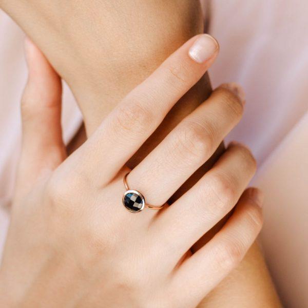 Δαχτυλίδι με Ημιπολύτιμες Πέτρες 8mm-17564