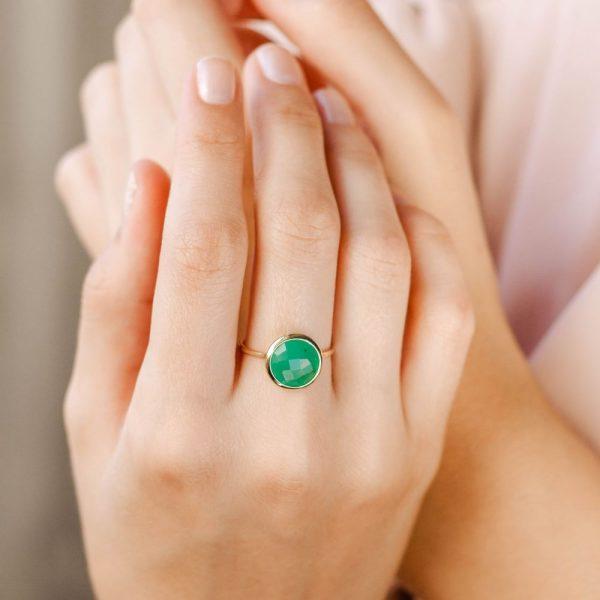 Δαχτυλίδι με Ημιπολύτιμες Πέτρες 10mm-17572