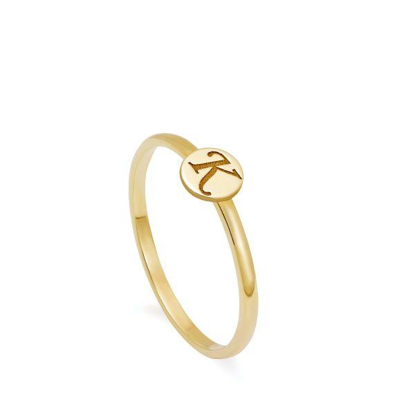Δαχτυλίδι με Γράμμα Χρυσό 14Κ