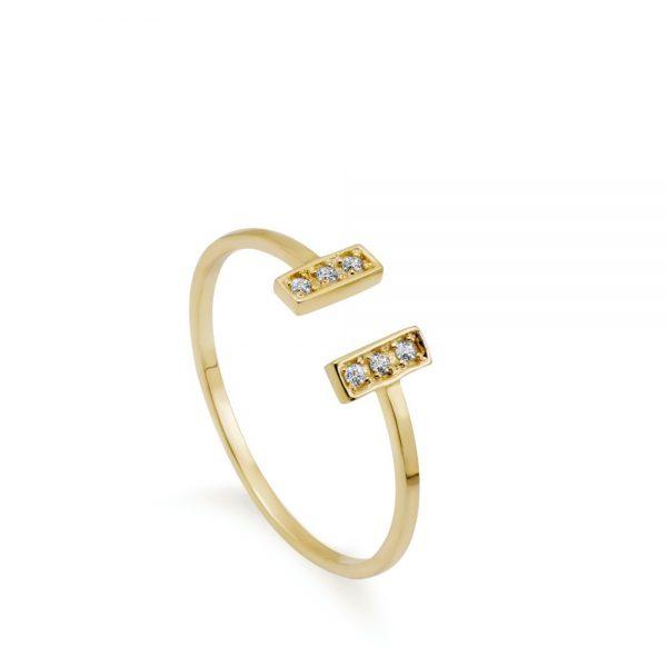 Δαχτυλίδι Ανοιχτό με Διαμάντια