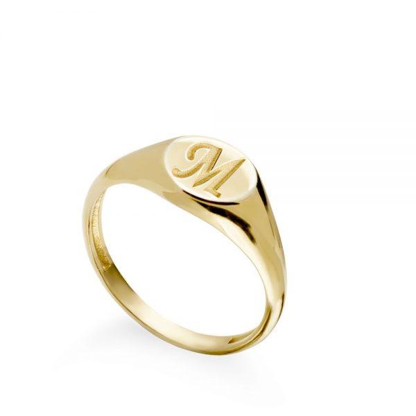 Δαχτυλίδι με Μονόγραμμα Σεβαλιέ Χρυσό