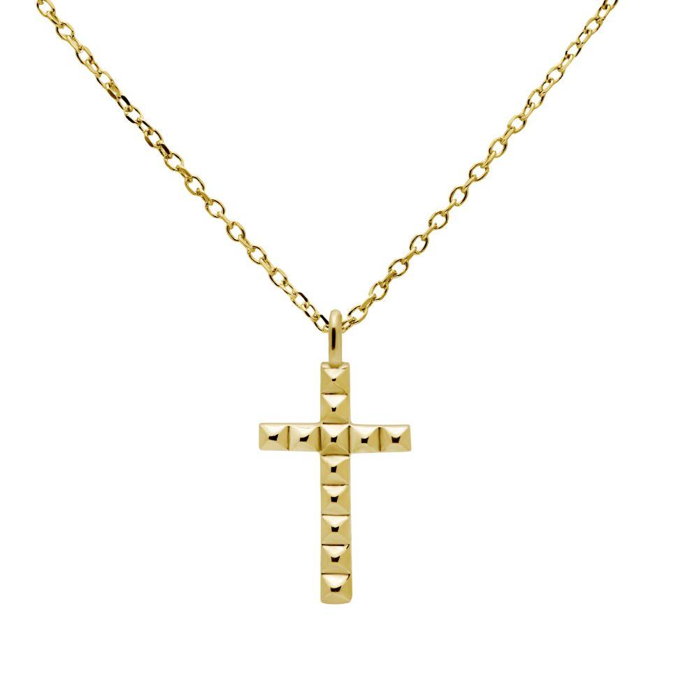 Μικρός Σταυρός Γυναικείος Χρυσός 14Κ