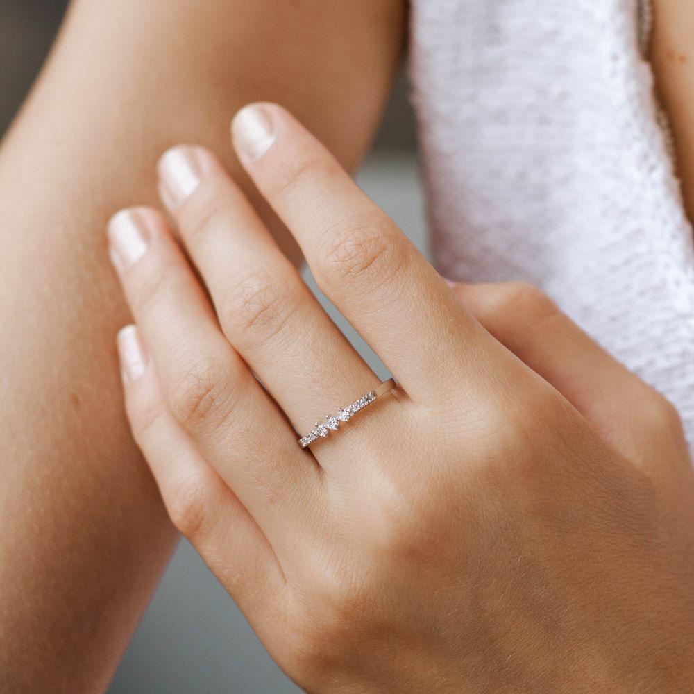 Δαχτυλίδι με Διαμάντια Σειρέ-19463
