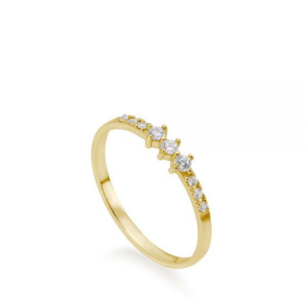 Δαχτυλίδι με Διαμάντια Σειρέ