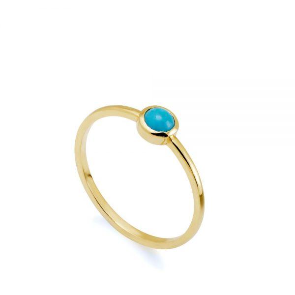 Δαχτυλίδι Τυρκουάζ Χρυσό 14Κ