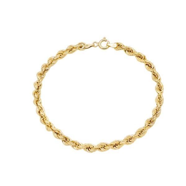 Βραχιόλι Αλυσίδα Rope Χρυσό
