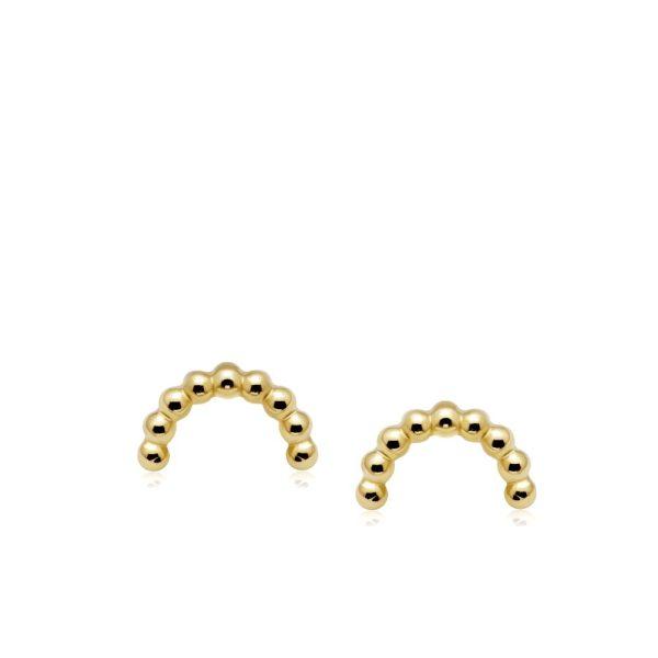 Σκουλαρίκια Dot Rainbow Χρυσά