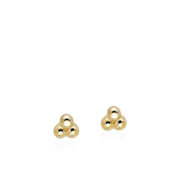 Σκουλαρίκια Three Dots Χρυσά