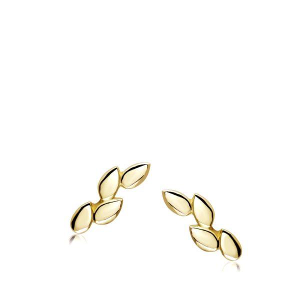 Σκουλαρίκια Φύλλα Χρυσά