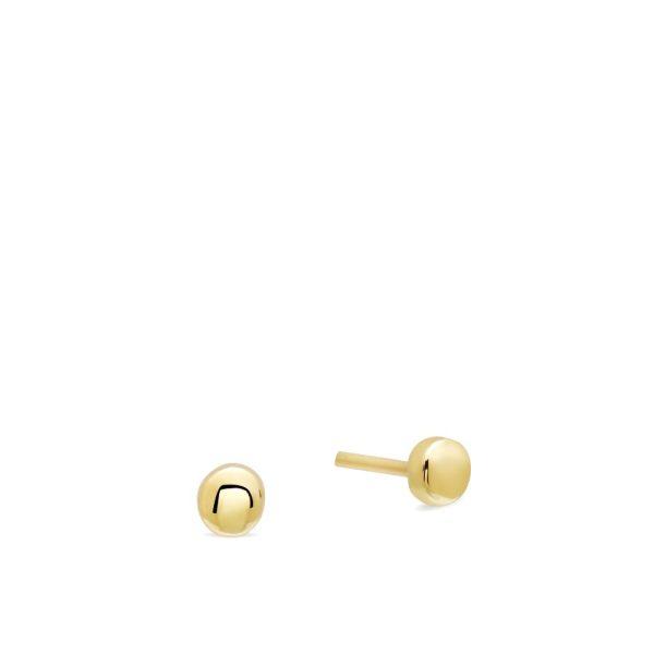 Μικρά Χρυσά Σκουλαρίκια Dots
