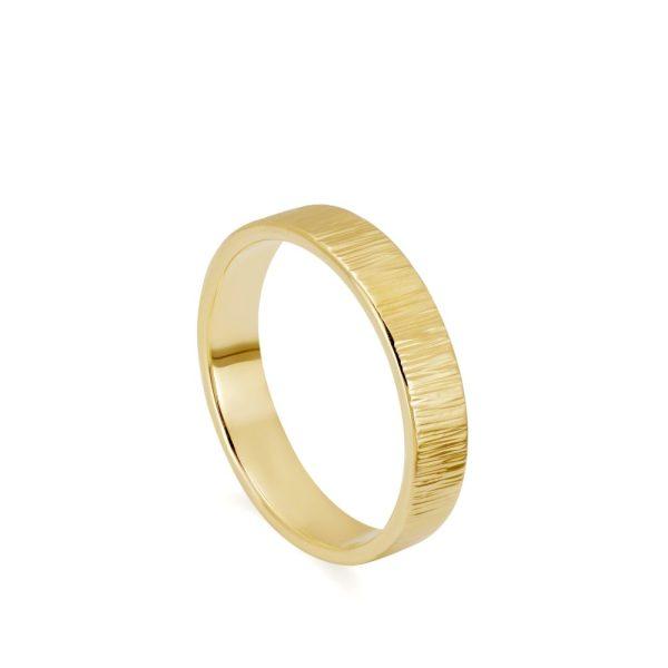Χειροποίητη Βέρα Γάμου Ανάγλυφη Χρυσή