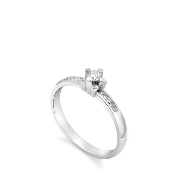 Δαχτυλίδι 18Κ Διαμάντια βάση Λουλούδι 0.1 ct