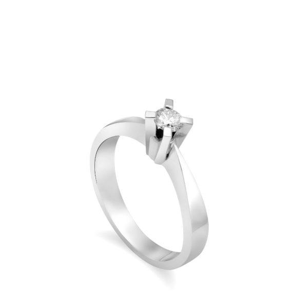 Γυναικείο Mονόπετρο Δαχτυλίδι 18K Διαμάντι 0.19ct