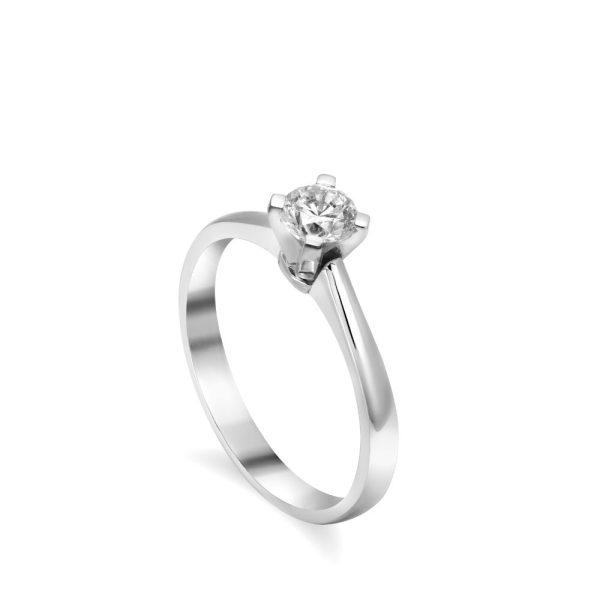 18Κ Γυναικείο Δαχτυλίδι Μονόπετρο με Διαμάντι 0.37 ct